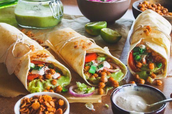 Vegaaninen shawarma valmistuu paahdetuista kikherneistä (V)