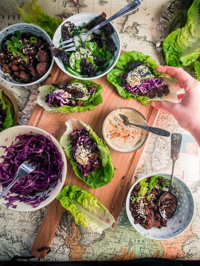 Teriyakihärkis salad wrap table // Teriyakihärkis-salaattiwrappöytä