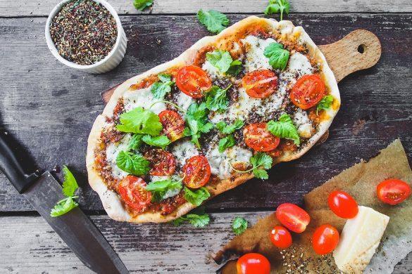 Pizza margarita goes za'atar