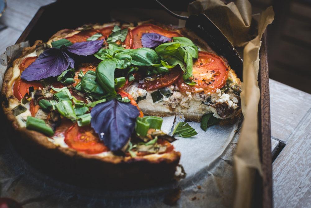 Ricotta-tomaattipiiras