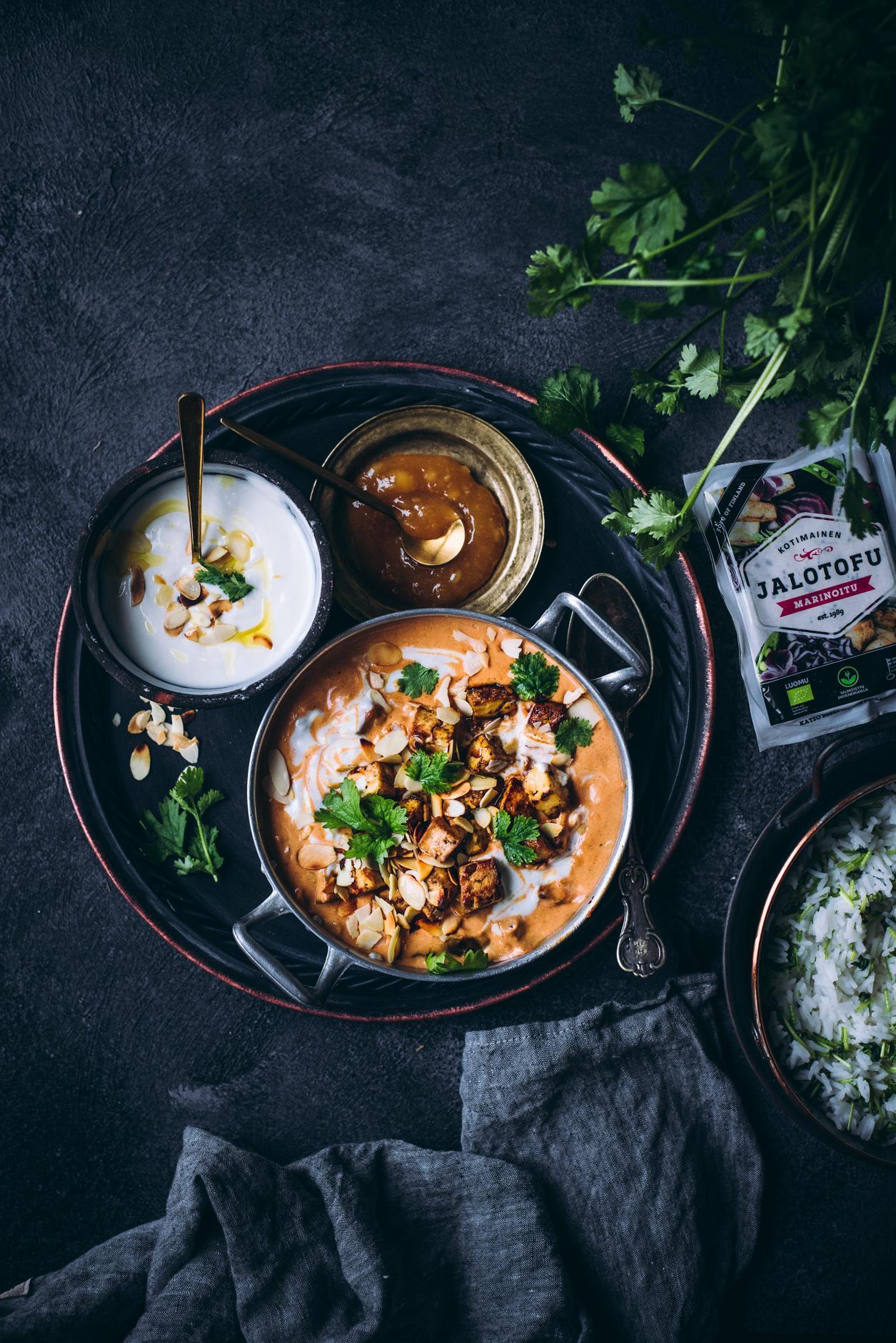Tofu-kooskorma. Vegaaninen