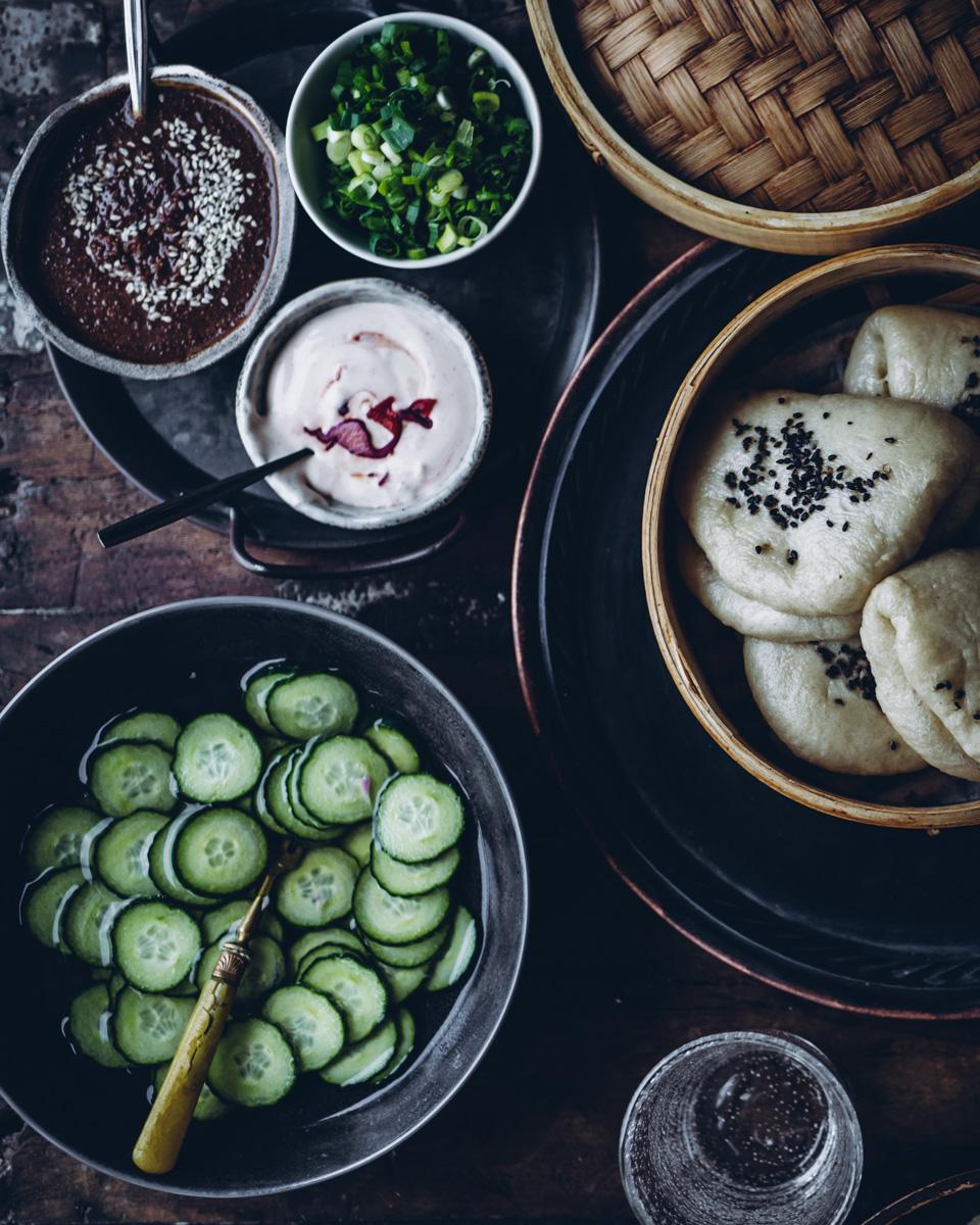 Korealaiset höyrytetyt sämpylät Gaijin style tofulla. Vegaaninen