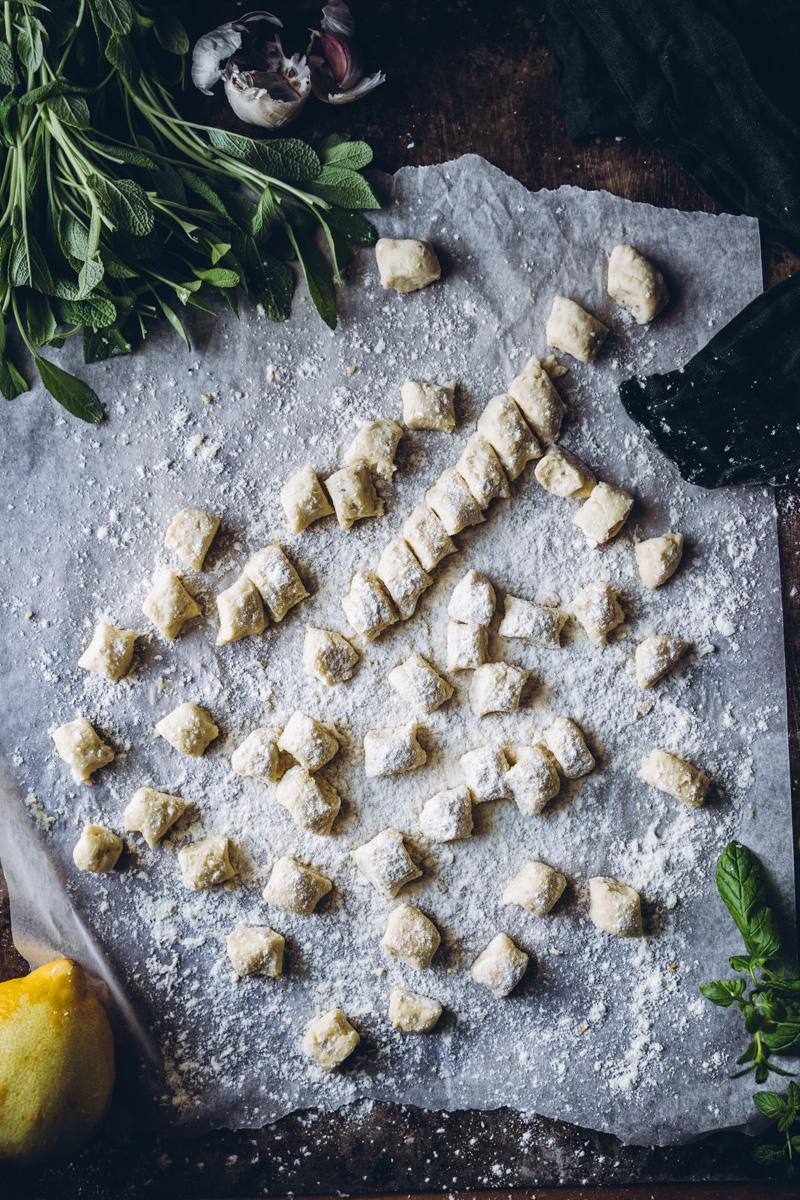 Perunagnocchit. Vegaaninen