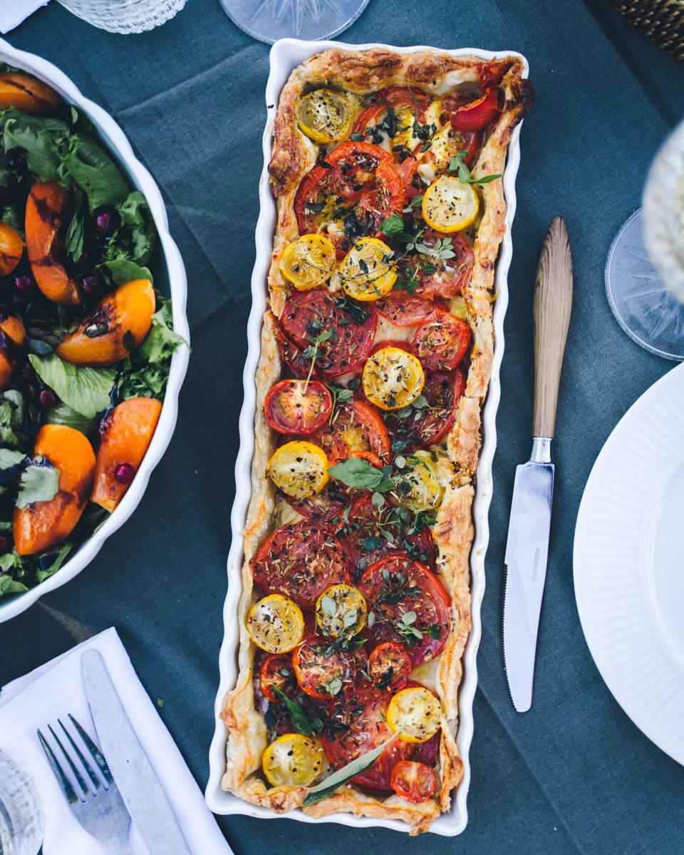 Dijon-tomaattipiirakka