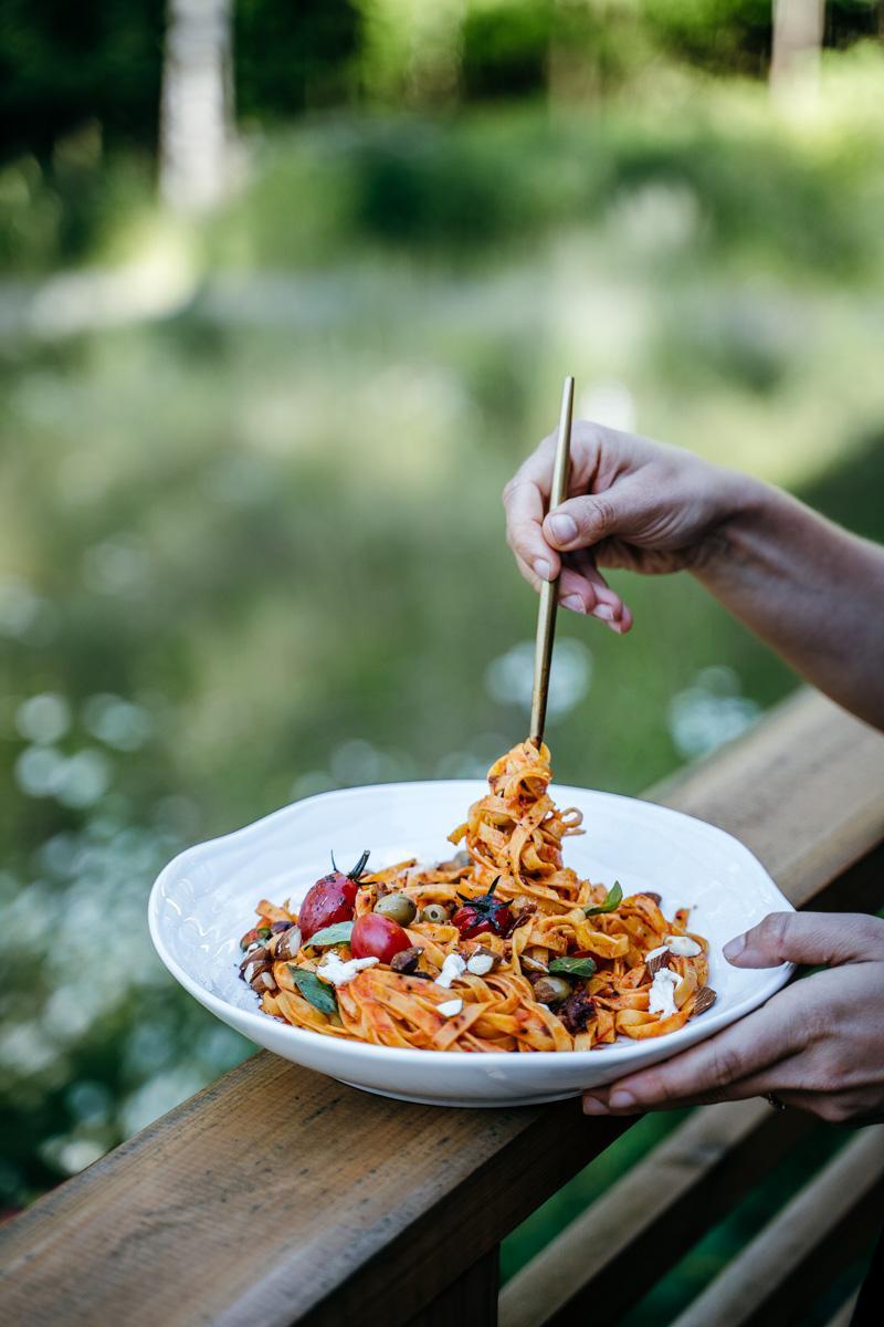 Romanesco pasta. Vegaaninen