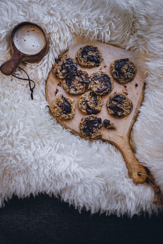 Maapähkinävoi-nutellakeksit. Vegaaninen