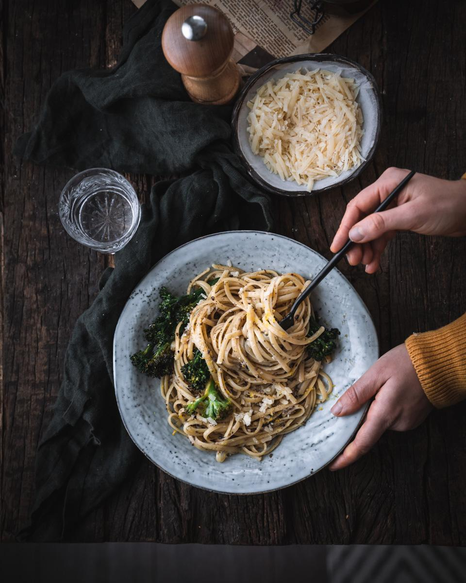 Broccolini-tryffelipasta